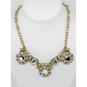 J. Crew Factory Rhinestone Cluster Necklace NWT